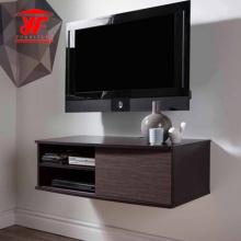 Mueble para TV simple de dormitorio negro con soporte