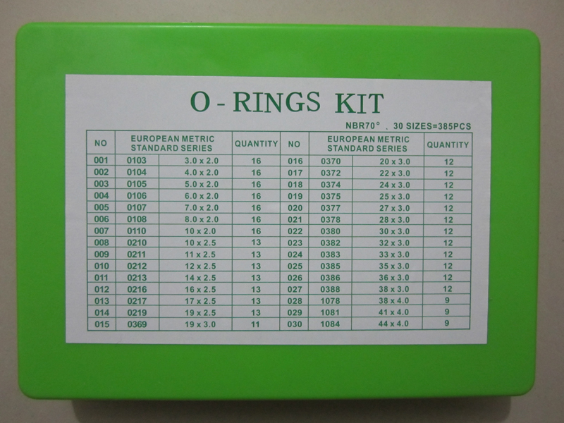 European Metric Standard Series O Rings Kit Nbr70 385pcs