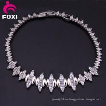 Pulsera de circonio plateado oro de la nueva joyería fina del diseño