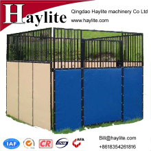 PVC canvas hot dip galvanized horse stable with steel frame