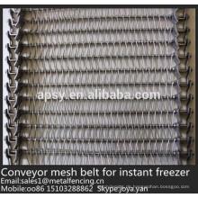700mm, 800mm breite U-Verbindung gewebtes Edelstahl-Förderband für sofortigen Gefrierschrank