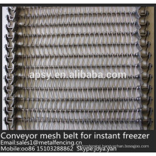 700mm,800mm wide U link woven stainless steel conveyor mesh belt for instant freezer