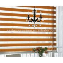 hecho a medida dos capas ventana decoración cebra persianas