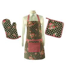 Набор кухонных фартуков и перчаток для духовки