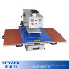 Máquina neumática de la prensa del calor de las estaciones dobles con Ce Testing
