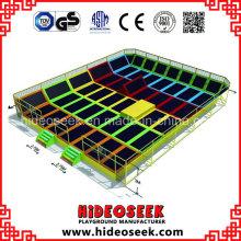 China Hersteller Bungee Jumping Indoor Trampolin Bett für Vergnügungspark