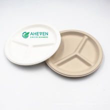 Anhui EVEN Best Selling Biodegradable  Compostable Sugarcane Bagasse Dinner Plate With Cheap Price
