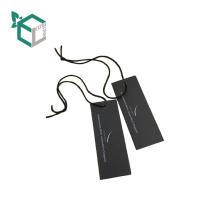 Design-Druckschuhe des schwarzen Papiers kundenspezifisches hängen Tag