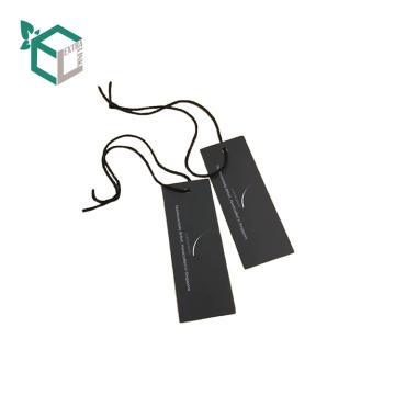 Черная бумага нестандартная конструкция логотип обувь печать повесить тег