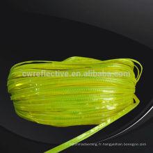 en471 lueur lumineuse élevée dans la bande de bordure réfléchissante en PVC foncé pour sacs