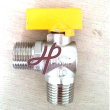 robinet à tournant sphérique de gaz d'angle
