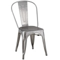 Kursi Ruang Makan Tolix Metal Brushed Galvanizing Chair
