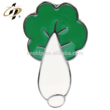 Bulk items wholesale silver plated custom pakchoi brooches pin