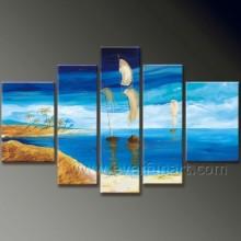 Pintura al óleo del paisaje marino