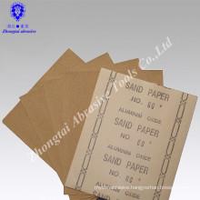 Abrasive sandpaper for wood