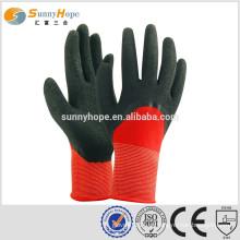 13 Gauge knit palm nylon Shell Luvas