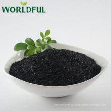 Adubo orgânico do floco brilhante do fulvate solúvel em água de 100% do potássio para o campo do arroz