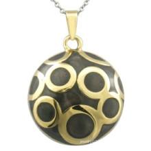 Black Enamel Pendant Gold Jewelry Fashion Pendant