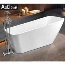 Aokeliya cheap price white bathtub freestanding and stand alone bath tub acrylic