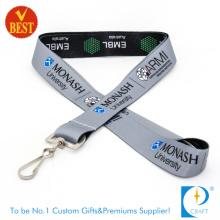 Versorgungsmaterial-Qualitäts-zwei Seiten-Firmenzeichen Vollfarbige gedruckte Lanyards mit J-Haken als Geschenk