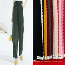 Frauen Hosen Plain Woven Dyed Spandex Rayon Stoffe