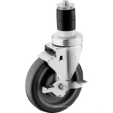 5-Inch TPU Wheel Expandable Stem Caster with Wheel Brake