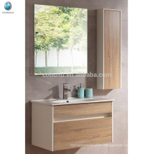 VT-082 Hotel paint free solid wood wall mounted bathroom vanity with drainer