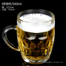 Certificado ISO Taza de cerveza de vidrio / Copa de cerveza / Copa de cerveza