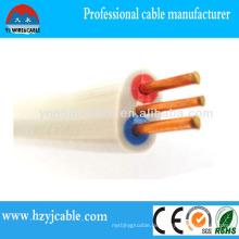 Typen von elektrischen Kabeln Flaches Doppel- und Erdkabel