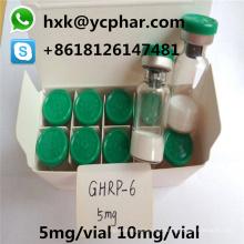 99.9% Ghrp-6 ciclo inyectable humana (crecimiento) hormona peptídica 5 mg 10 mg