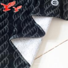 Toalhas de algodão preto profissionalmente personalizado de fábrica com logotipo