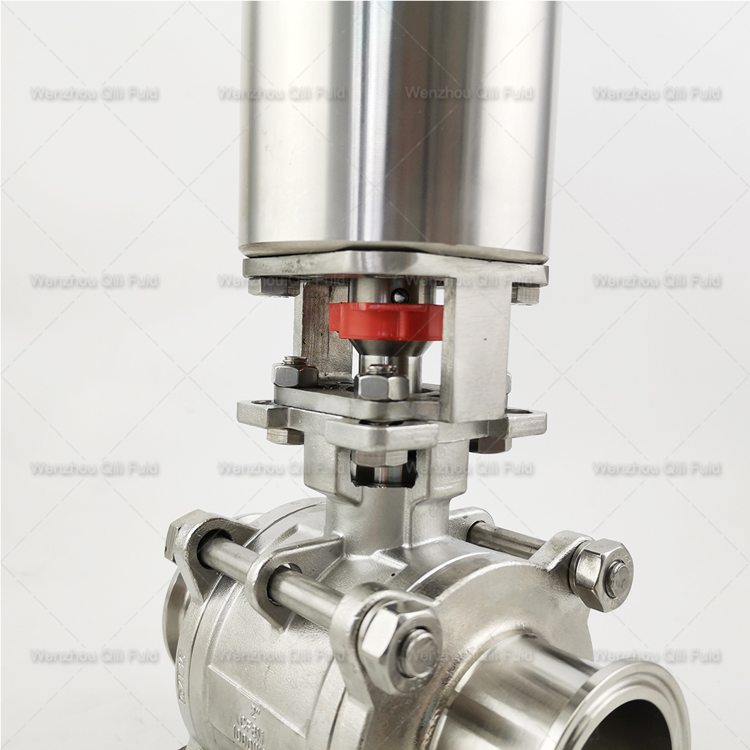 Vertical pneumatic ball valve (12)