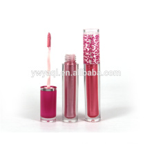 High quality colorful moisture long-lasting custom lip gloss with round tube