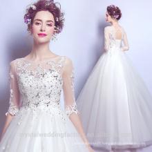Robe De Mariage 2017 Lace Islamic Belt Court Train Wedding Dress Ball Gown Long Sleeve Bridal Dresses MW2199