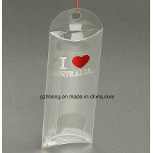 Customized logo small plastic folding box in pillow shape