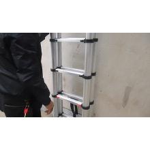 Échelle télescopique télescopique télescopique télescopique en aluminium à rallonges de 16 degrés