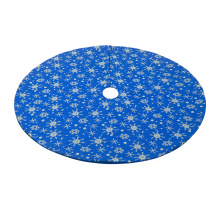 48'' Christmas Tree Skirt with Snowflake Decorations Christmas Tree Ornaments Carpet for Holiday Wedding
