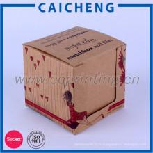 Boîte d'emballage de papier kraft personnalisée pas cher personnalisé