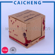 Cheap custom personalized kraft paper packaging box