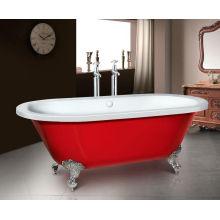 Billige freistehende Badewanne mit vier Beinen