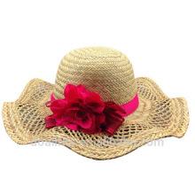 2016 соломенная шляпа с женской соломенной крышкой делает в Китае