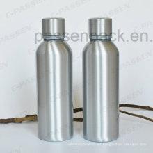 Botella de whisky de aluminio de 500 ml con tapa a prueba de manipulaciones (PPC-AVB-500)