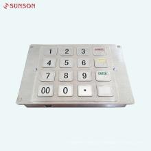 Teclado com criptografia PCI para máquina de quiosque de venda de cartões