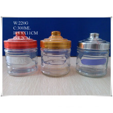 300ml Glass Canister for Coffee Sugar with Different Lids