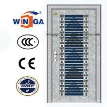 Gute Preis Edelstahl Edelstahl Sicherheit Eisen Metall Tür (W-GH-29)
