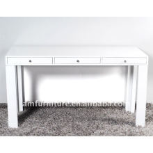High gloss small dining table with drawer