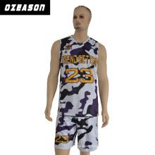 Рукавов 100% полиэстер Спортивная одежда мужчины Баскетбол Джерси