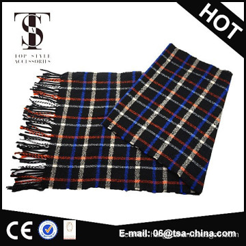 wholesale tartan woven men scarf