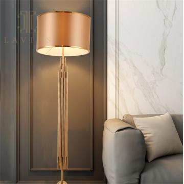 Золотой металлический торшер Villa в скандинавском минималистском стиле