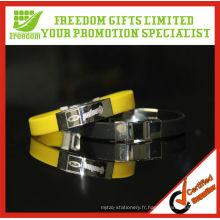 Bracelet de silicone Freedom Gifts en métal